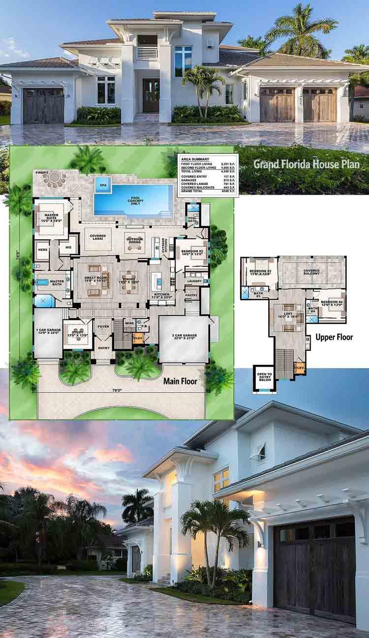 51 Gambar Desain Rumah Mewah 2 Lantai Dengan Kolam Renang Dan Taman Paling Banyak Di Minati Deagam Design